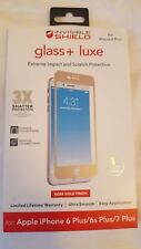 """NEW ZAGG Glass + Luxe Screen Protector for Apple iPhone 8 PLUS (5.5"""") ROSE GOLD!"""