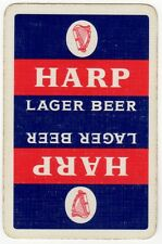 Playing Cards 1 Swap Card - Old Vintage HARP LAGER BEER Brewery Advertising