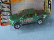 Matchbox Mitsubishi L200 4x4 Triton Green Build it BuilderToy Model Car 75mm