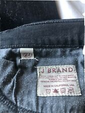 Ladies J Brand SHADOW Black Skinny Leg Stretch Denim Jeans Size 27 in GC