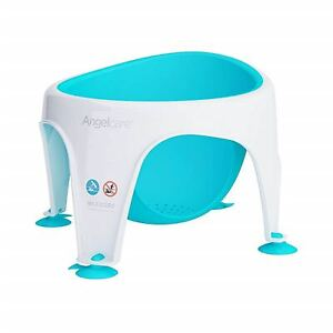 New Angelcare Baby Child Bath Support Soft Touch Ring Shower Mini Seat - Aqua