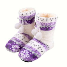 Adults Women Warm Home Coral Fleece Indoor Floor Socks Plush Slipper Room Shoes