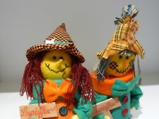 VTG Pair German HALLOWEEN Scarecrow Hand Made Dolls/Paper Candy Chocolate Box