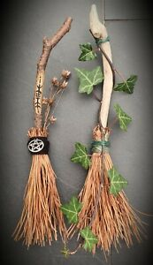 Witch besom broomstick mini alter size. Spells witchcraft,  good luck
