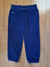 Ralph Lauren Navy Terry Cloth Capri Sweat Pants Girls XL 16