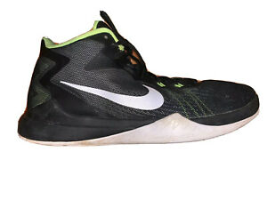 Nike Mens Size 10.5 Zoom Evidence Basketball Black White Volt Shoes 852464 006