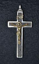 Antiguo colgante cruz de Metal - Precioso - Metal dorado