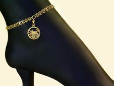 "Filled 1-20 14K / 10"" Taurus Anklets Taurus Zodiac Sign Anklets / Authentic Gold"