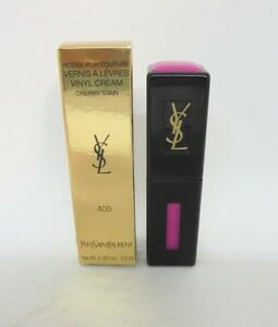 YSL rouge pur couture vinyl cream stain ~ 405 explicit pink ~ 0.18 oz BNIB