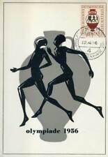 408173) Maximumkarte Niederlande Nr. 680 Olympiade 1956, Laufer auf Vase