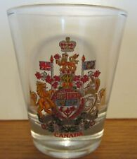 CANADA   COAT OF ARMS   SHORT SHOT GLASS