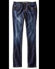 Coole  Jeans  Hose mit Druckmuster in Dark Denim  -  Größe 44