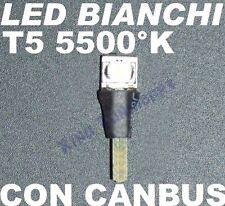 Lampadina a LED T5 BIANCHI SMD CRUSCOTTO Quandro Strumentazione 1,2W 2,3W 12V