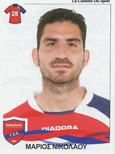 N°266 MARIOS NICOLAOU # CYPRUS PANIONIOS STICKER PANINI GREEK GREECE LEAGUE 2010