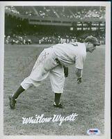 Whitlow Wyatt Autograph 8x10 Photo Psa/dna Signed
