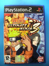 PS2 SONY PLAYSTATION 2 NARUTO ULTIMATE NINJA 3 BANDAI