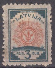 LATVIA, 1919 Mi 30 HINGED STAMP WITH PLATE ERROR