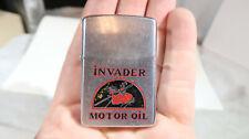 Zippo RARE Invader Motor Oil Lighter 1978