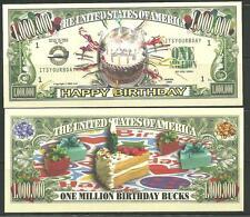 Happy Birthday 1 Million Dollar Novelty Bill By American Art Classics