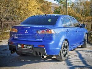 Rear Diffuser EVO Style(ABS plastic) Bumper for Mitsubishi Lancer X 2007-2016