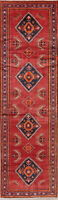 Geometric Lilian Oriental Runner Rug Hand-Knotted Wool Decorative Carpet 3 x 12