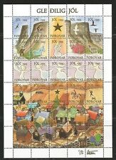 Faroe Is 1995 Christmas Seals complete sheetlet--Attractive Art Topical MNH