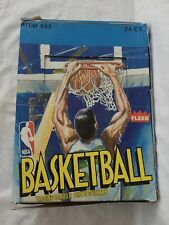 1989 Fleer NBA Basketball Rack Packs unopened box of 24