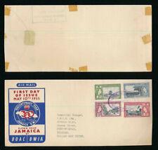 JAMAICA 1955 TERCENTENARY FDC FLOWN BY BOAC + BRITISH WEST INDIAN AIRWAYS