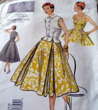 1950s VOGUE VINTAGE MODEL DRESS TOP BELT SEWING PATTERN 12-14-16