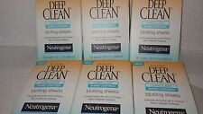 Neutrogena Deep Clean Shine Control Blotting Sheets, 50 Count (Pack of 6)