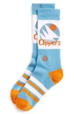 Stance Men's Blue White Orange Combed Cotton Clippers Crew Socks Size S-M(6-8.5)