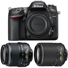Nikon D7200 DX 24.2MP DSLR Camera w/ 18-55mm Zoom + 55-200mm NIKKOR Lens Bundle