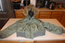 Vintage N2B Air Crew Alpha Industries Jacket Coat Flight USAF 1959 Coyote Fur M