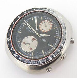 Vintage Seiko 6138 0011 Steel Mens Automatic UFO Chronograph Watch $1 NO RES