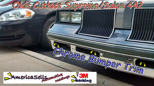 81 82 83 84 85 86 87 88  CUTLASS CHROME BUMPER TRIM SUPREME SALON MOLDING OLDS