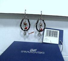 Swarovski Hello Kitty Glamour Hoop Pierced Earrings Cats Crystal MIB - 1120592