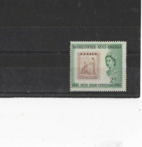 ST CHRISTOPHER-NEVIS-ANGUILLA , 1961, SG123 TYPE 28 2c RED AND GREEN, MH