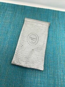 Vintage Christian Dior Womens lunettes Silver POUCH ONLY  Dw3