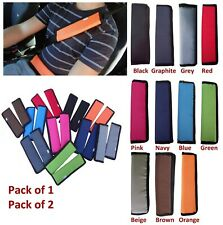Car and Pram Safety Seat Belt Cover Strap Shoulder Harness Pad Pads Pack:1or2