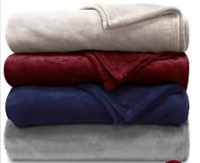 """Lauren Ralph Lauren Micromink King Blanket Throw Bedding Cover 108"""" X 90"""""""