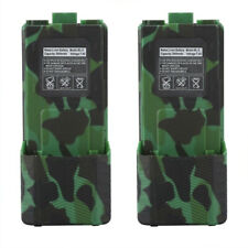 2X BAOFENG UV5R Extended Spare Battery 3800mAh Camouflag