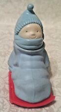 "Child On Sled ""Bundle Of Fun"" Sure Winner Bracing Lotion Vintage Avon 1980-81"