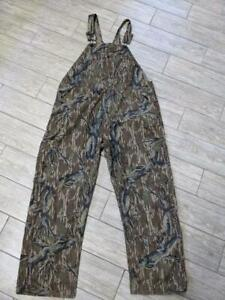 vintage MOSSY OAK overalls CAMOUFLAGE hunting pants 44x32 42x32