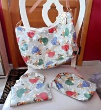 Large handbag,wallet, coin purse and cosmetic with Angel design by Gloria Rae