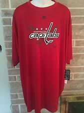 Washington Capitals NHL Red Mens Shirt Size 4XL New with Tags Polyester