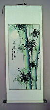 Feng Shui wall hanging scroll longevity bamboo long life good health original