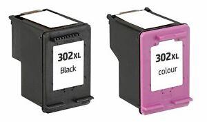 2x Tintenpatronen ersetzt HP 302xl, 1xBK, 1xColor  F6U67AE Officejet 3830