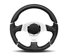 Momo Millenium 350mm Steering Wheel Black Leather 6 Bolt RZR Maverick X3 YXZ