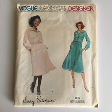Vogue Jerry Silverman Dress Sewing Pattern 1829 Sz 10 Vogue American Designer