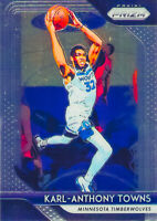Karl Anthony Towns 2018-19 Panini Prizm Base Card #107 Minnesota Timberwolves